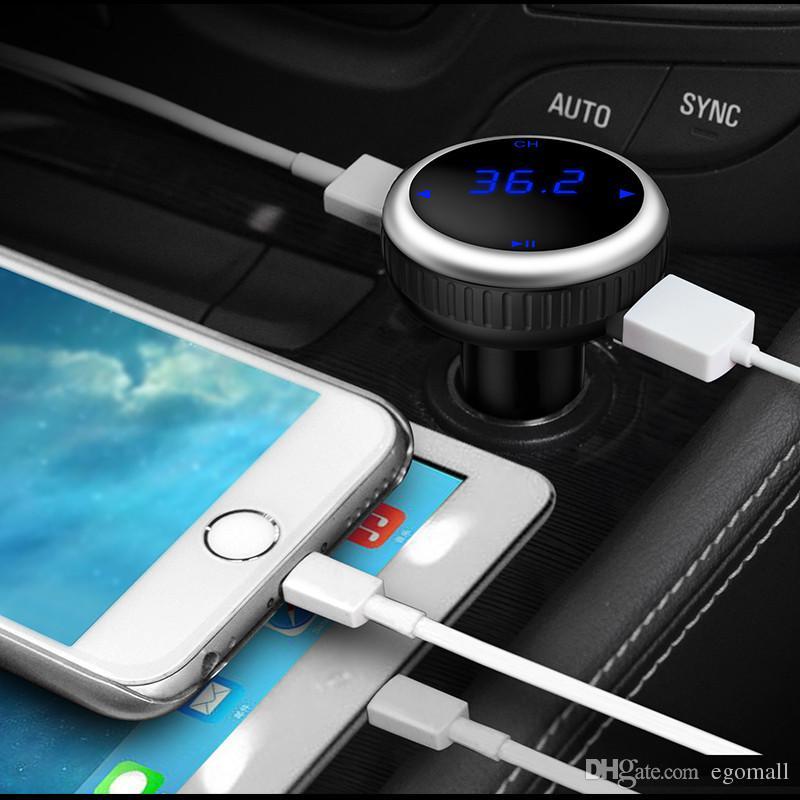 Auto MP3 Audio Player Bluetooth FM Transmitter mit Fernbedienung Wireless FM Modulator Car Kit Freisprecheinrichtung LCD Screen w / TF Slot
