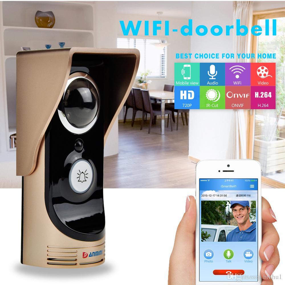 App Remote Control 720P WIFI Doorbell With Indoorbell