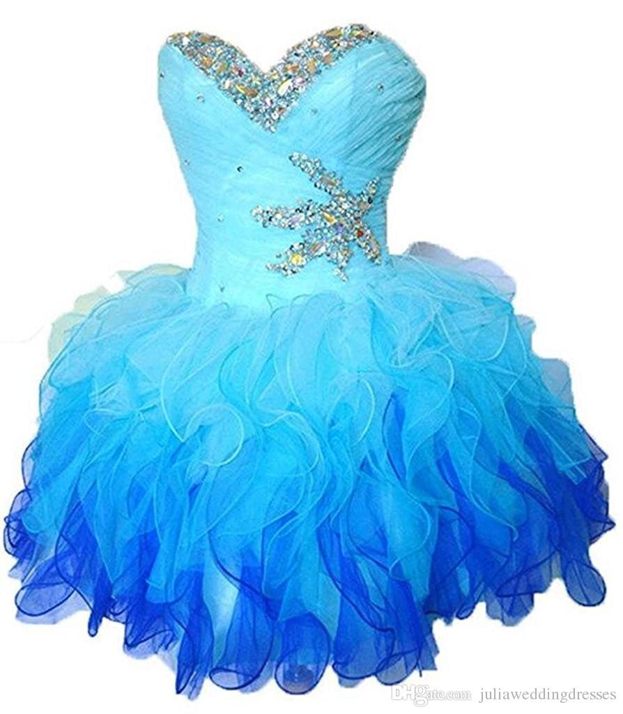 2021 Schatz Mini Short Prom Homecoming Kleider Plus Size Perlen Kristalle Abschlusskleid für Cocktailparty