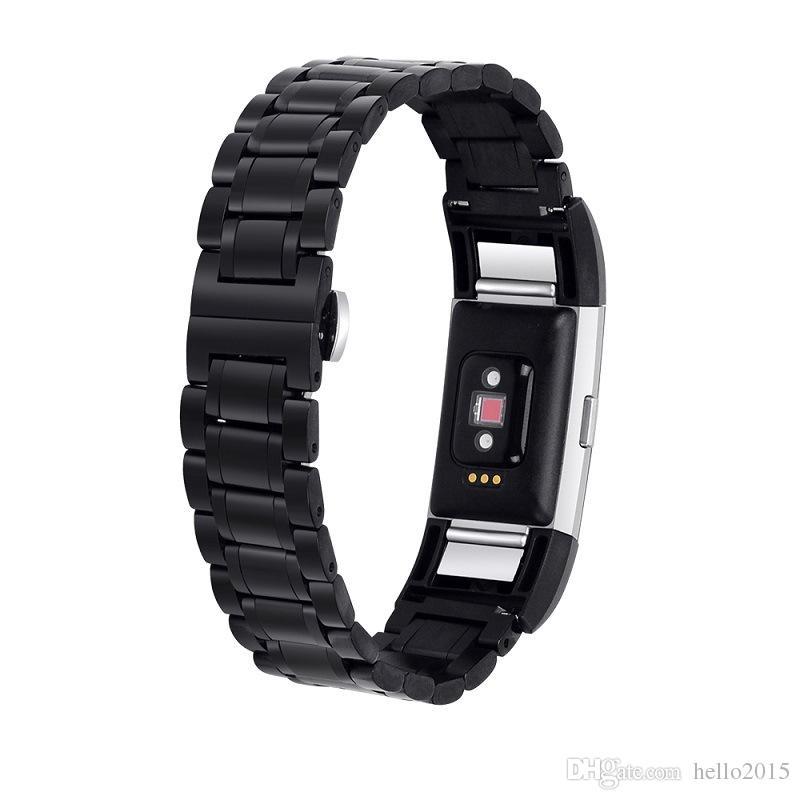 Yeni Moda Lüks Çelik Stil Fitbit Şarj 2 için Akıllı Watch Band Fitbit Charge2 için 2 Yedek Metal Bantları Kayışı