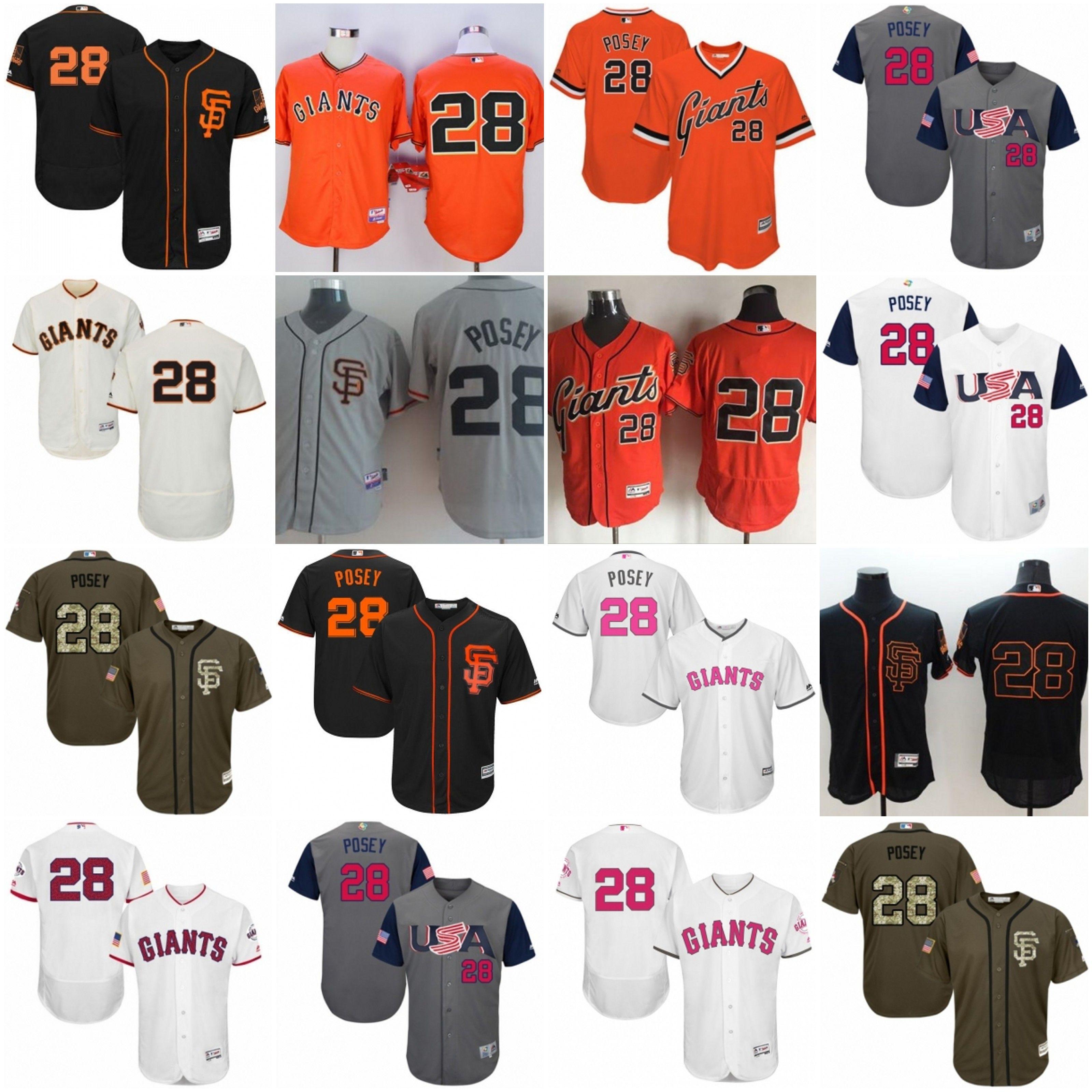5c09d39e4 ... T-Shirt 2017 2017 28 Buster Posey Jersey San Francisco Mens Sf Black  White Fashion Stars Cream Orange 2017 San Francisco Giants ...