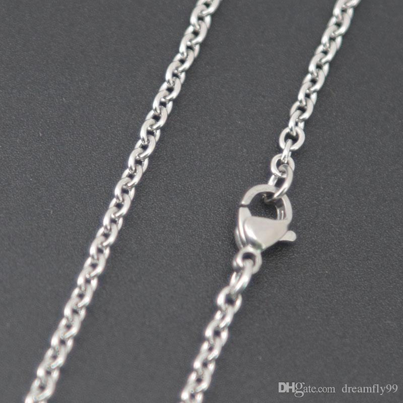 """super lowest price Silver Jewelry Stainless Steel 18"""" 20"""" 24"""" 30"""" 2.3mm necklace Chains for living glass lockets & Diffuser oil Locket"""