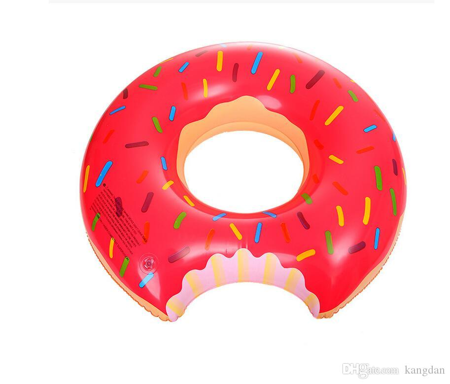 90cm summer swim life bouy Donut Swimming ring Floating Inflatable Swimming Ring Adult Pool Float Strawberry Chocolate raft fot fun