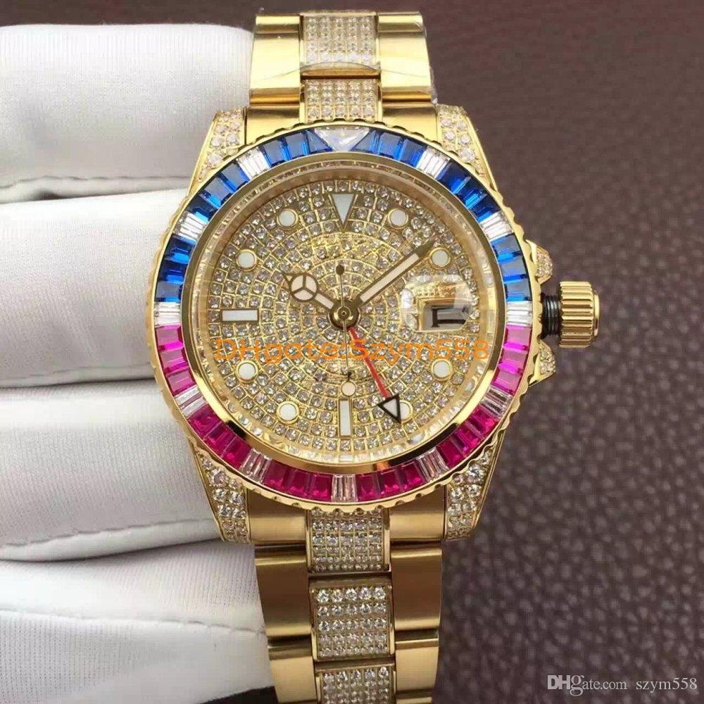 High Quality Day Date Gold Watch Men'S 2836 Automatic ...