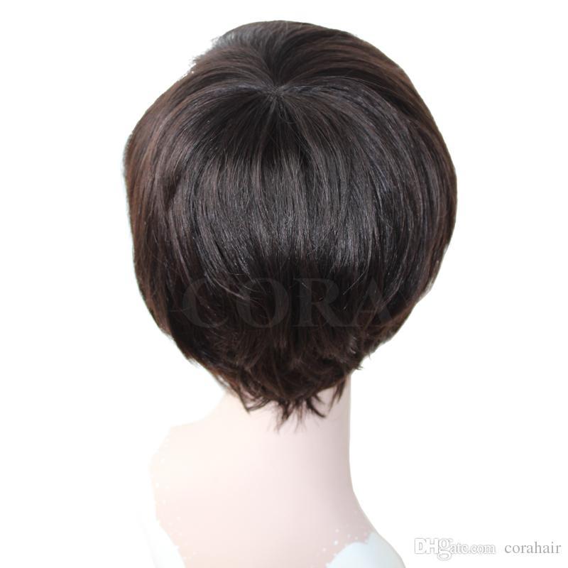 Human Hair Lace Front Wigs 130% Density Yaki Straight Brazilian Virgin Hair Full Lace Short Bob Wig for Black Women
