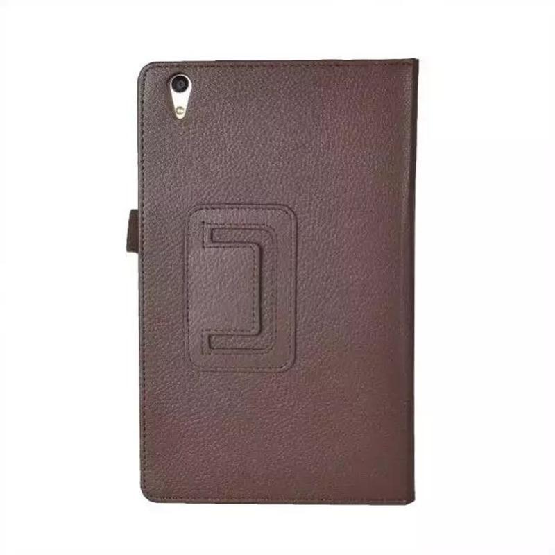 Two Folio Protective PU Leather Cover with Stand Case Litchi for Huawei Honor 2 JDN-AL00 / JDN-W09 8 inch Tablet PC + Stylus Pen