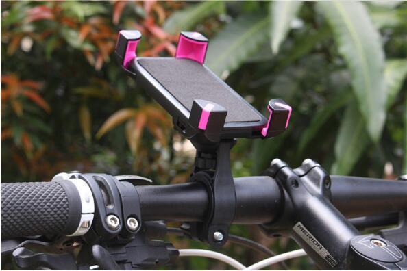 دراجة المقود كليب جبل قوس 360 درجة دوران الهاتف المحمول حامل الدراجة حامل لفون 6 6plus 7 8 لسامسونج