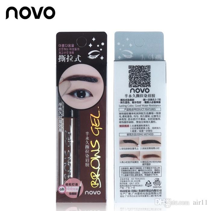 Eye Brow Tattoo Tint Waterproof Long-lasting Peel Off Dye Eyebrow Gel Cream Mascara Make Up Pen Korean Cosmetics NOVO Eye Makeup 120pcs