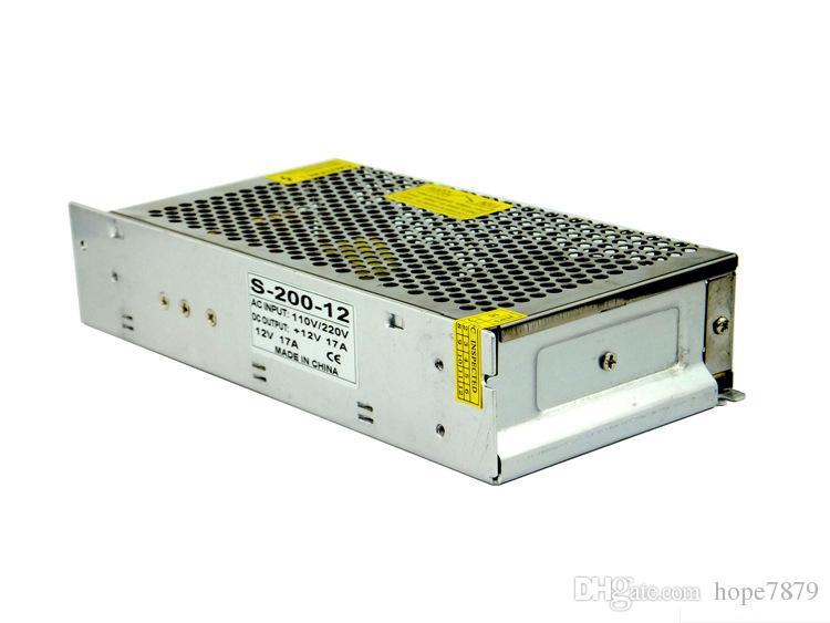 출력 DC 5V 12V 24V 200W 트랜스 포 머 주도 전원 공급 장치 드라이버 실내 조명 액세서리 입력 AC 110V 220V