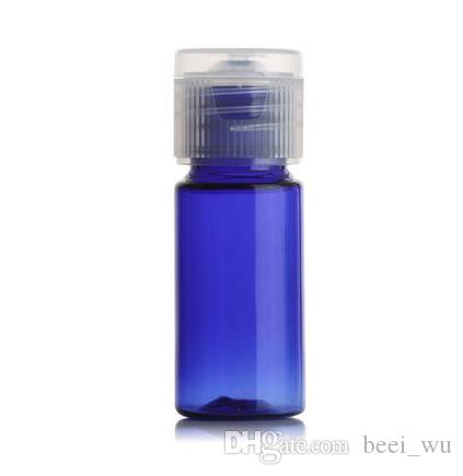 10ml Small Flat Shoulder Transparent PET Packing Emulsion Perfume Travel Bottle Mini Bottle