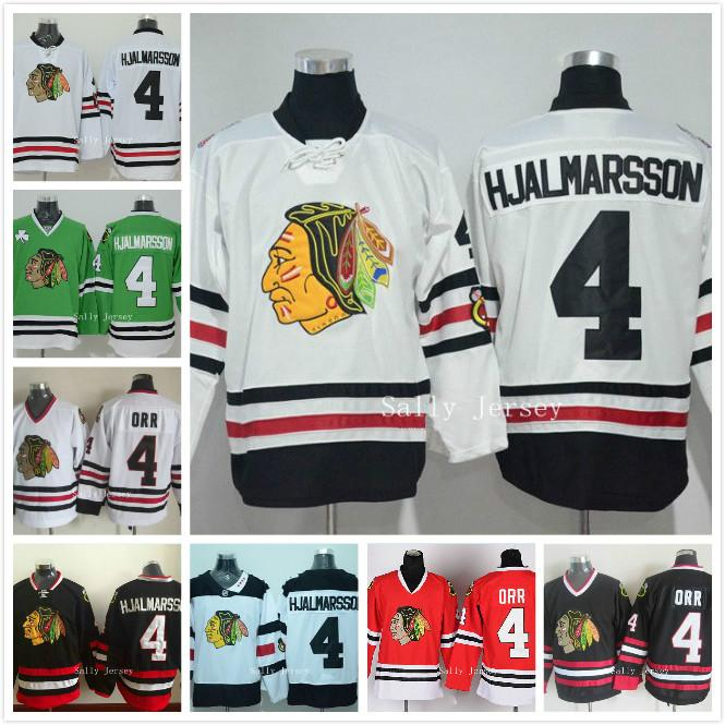 ... Reebok 2017 4 Niklas Hjalmarsson Jersey Nhl Chicago Blackhawks Ice  Hockey Jersey Home Red White Black Green ... b3f0a7a28