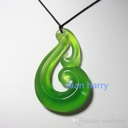 carved brosnan pendant place the art brosnanjade carving jade maori bone style koru necklace products large