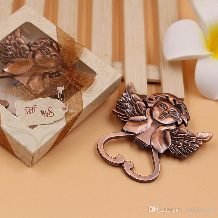 Metal Wedding Return Gifts Angel Bottle Openers For Event Party