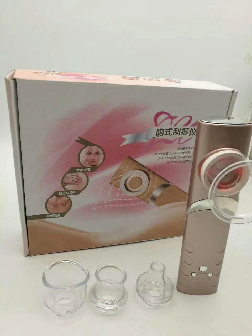 Neueste heiße Griff Vakuum Schröpfen Abnehmen Cellulite Loss Drainage Schönheit Haut Lifting-Gerät 4 Tipps Köpfe verfügbar für den Heimgebrauch