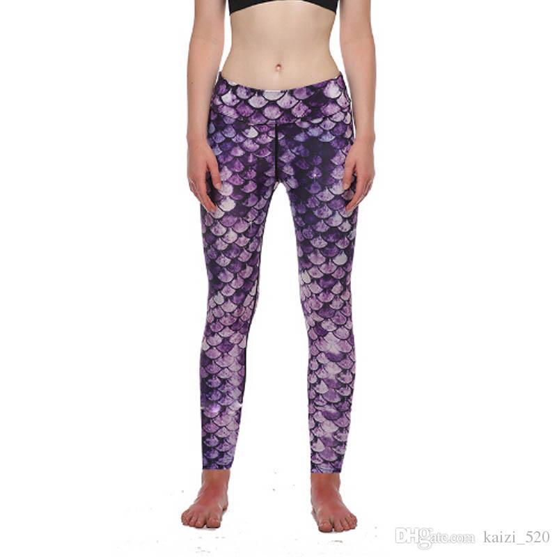 64e80077d398a9 2019 Sublimation Leggings Mermaid Sexy Women Leggings Digital Print Casual  Force Exercise Fitness Legging Workout Pants From Kaizi_520, $14.88 |  DHgate.Com