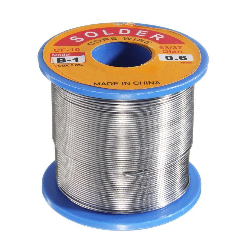 63/37 0.6mm 300g FLUX 2.0% Tin Lead Rosin Core Solder Flux Soldering Welding Iron Wire Reel 55 x 50 mm Newest
