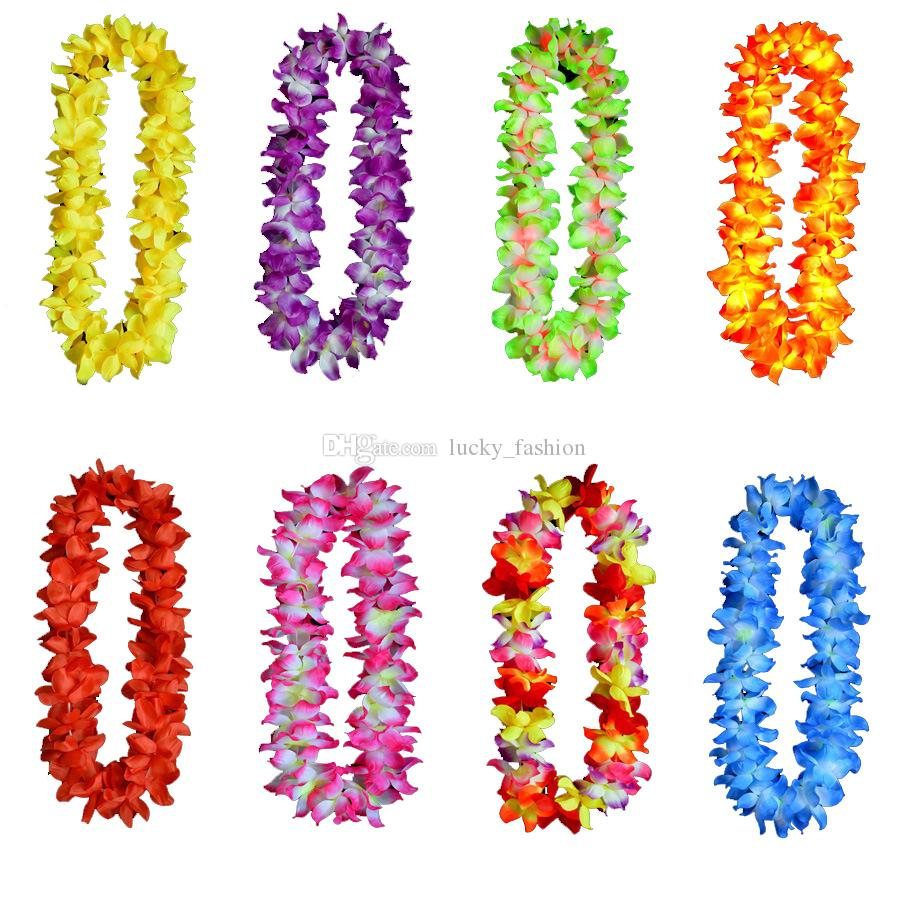 2018 Hawaii Beach Flowers Garland Leis Thicker 120cm Decorations