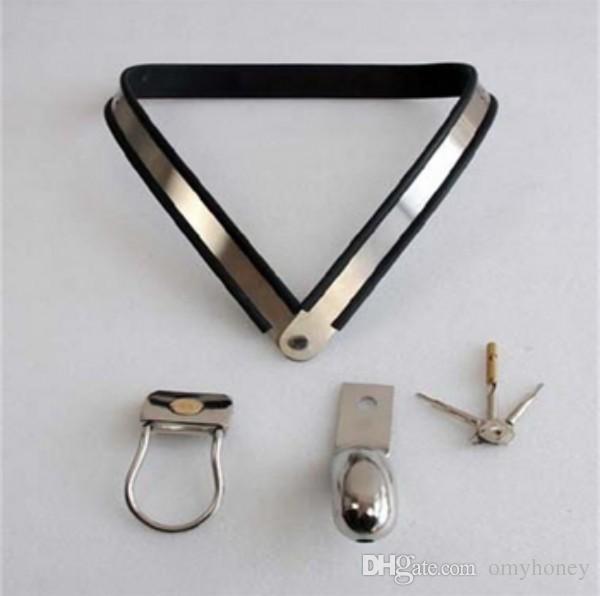 M134 nuovo bondage maschio in acciaio inox con serratura regolabile castità dispositivi con gabbia del pene gabbia anello del cazzo, giocattoli del sesso gli uomini