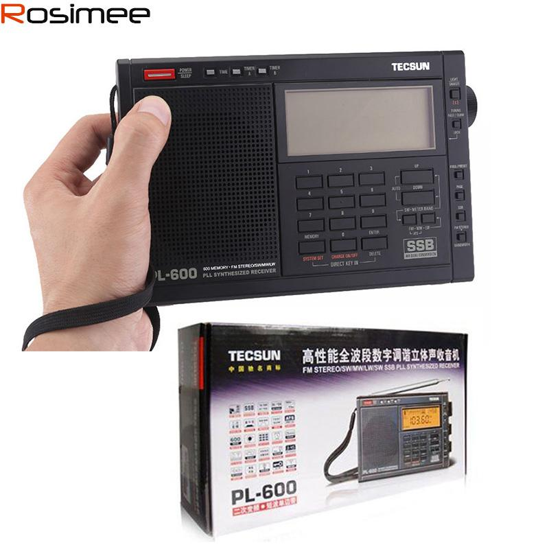 Unterhaltungselektronik Radio Original Tecsun Pl-600 Pl600 Tragbare Fm Radio Fm Stereo Am Fm Sw Mw Pll Alle Band Empfänger Digital Radio Tecsun Freies Verschiffen