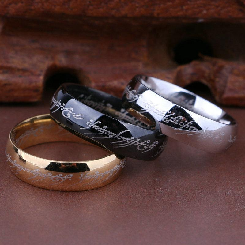 100 Titanium Ring Men Wedding Band Rings Woman Lord Rings Classic