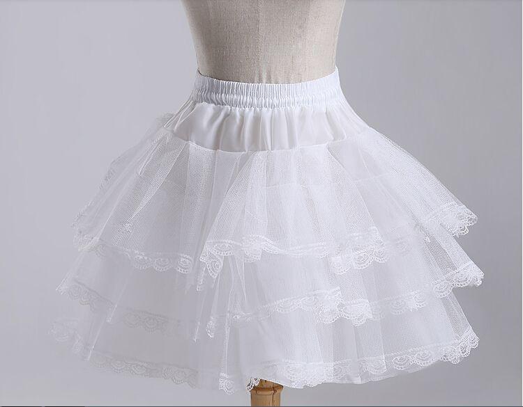 العلامة التجارية جديد قصير التنورات الداخلية المالية وايت اكسسوارات الزفاف Hoopless 3 طبقة قماش قطني الزفاف سيدة بنات الأطفال تحتية