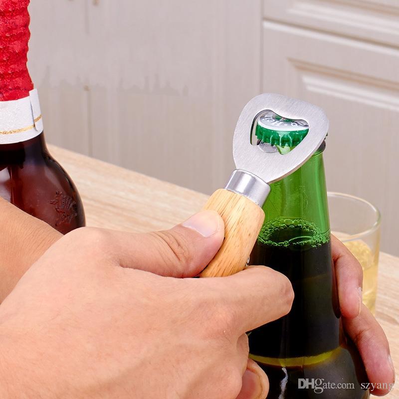 Factory Price Personalized Wood Beer Bottle Opener/Free Custom Engraved and Monogrammed/Wedding Groomsmen Gift