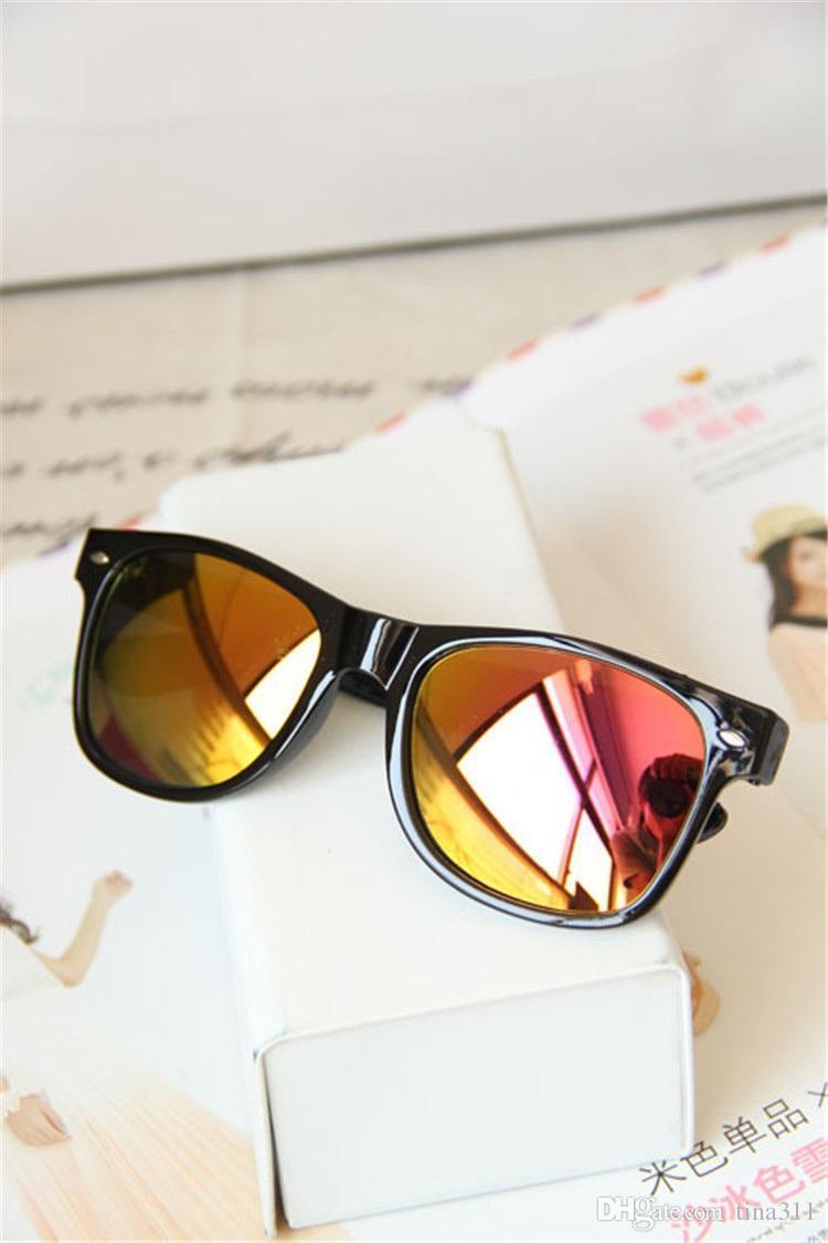 Chegadas Moda feminina Óculos de Sol Lente Plana Espelho Moldura de Metal Sapo espelho Óculos de Sol Frete Grátis CA163
