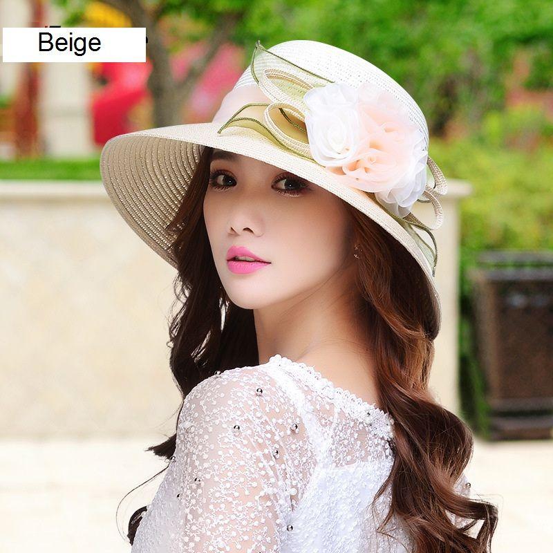 القبعات الصيفية واسعة حافة القش القبعات الكنيسة القبعات المرنة قبعة الشاطئ المجهزة قبعة واسعة حافة الشاطئ قبعة للسيدات والنساء