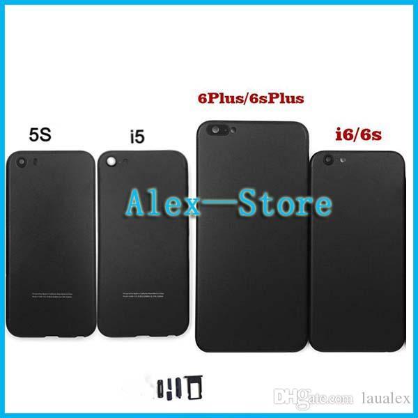 Housse Pour Téléphone Portable Boîtier Noir Mat Pour Iphone 5 5s Se