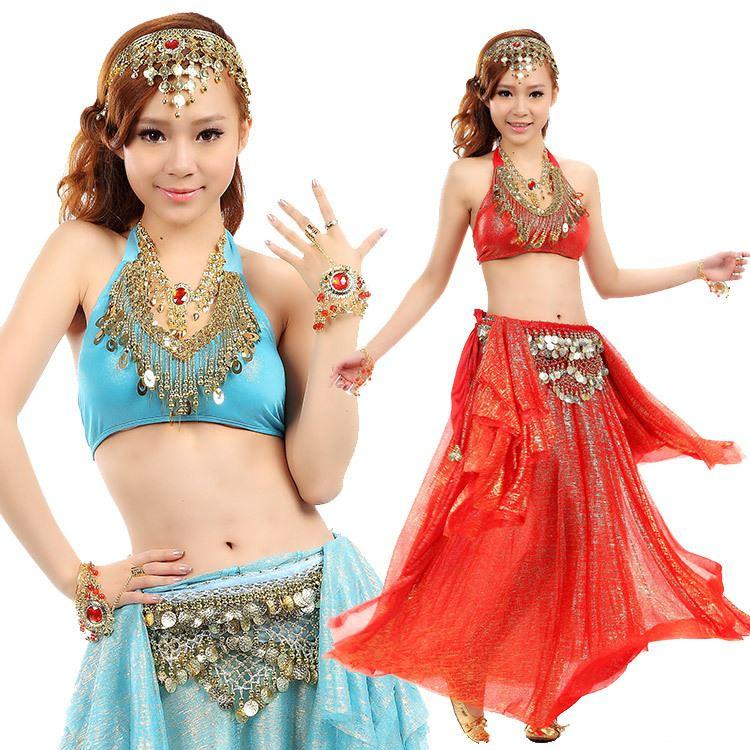 33a56b2c6c 2019 Sexy Belly Dance Costumes Suit Indian Performance Dancing Wear Clothes  Peacock Bra Slit Skirt Belt From Wbchen, $29.75 | DHgate.Com