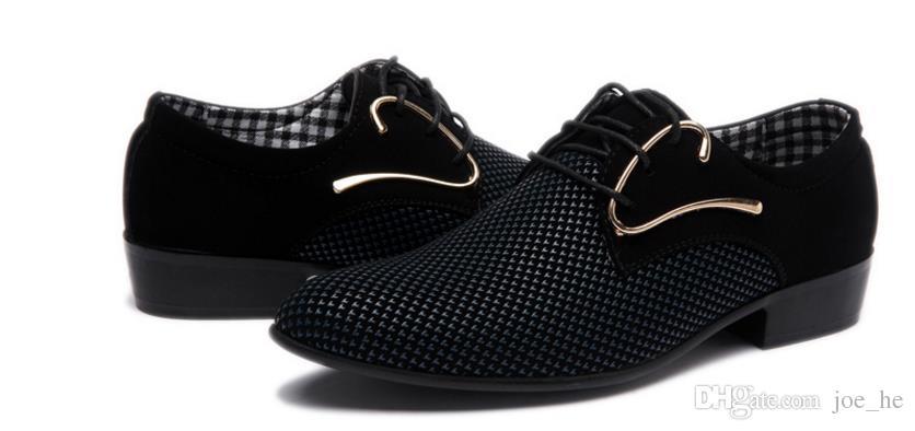 Мужские роскошные дерби обувь мужская плоские оксфорды повседневная скольжения на платье Свадебные кожаные ботинки Обувь мужской бизнес обувь плюс Размер 46