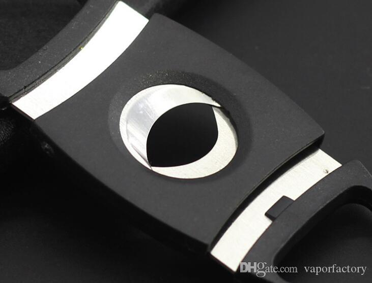 ABS Plastic Stainless Steel Black Cigar Cutter Pocket two Double Blades sharp cigar Knife Scissors smoking tobacco Shears Guillotine