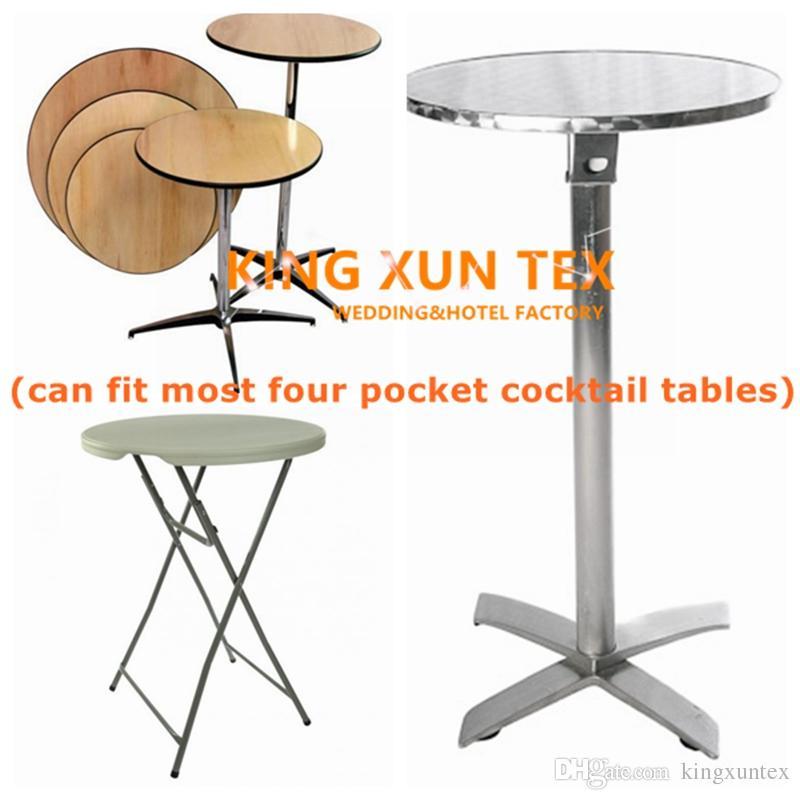 Strpped Or Checker Impreso Lycra Spandex Cocktail Table Cover \ Cheap Wedding Table Cloth Envío gratis a la puerta