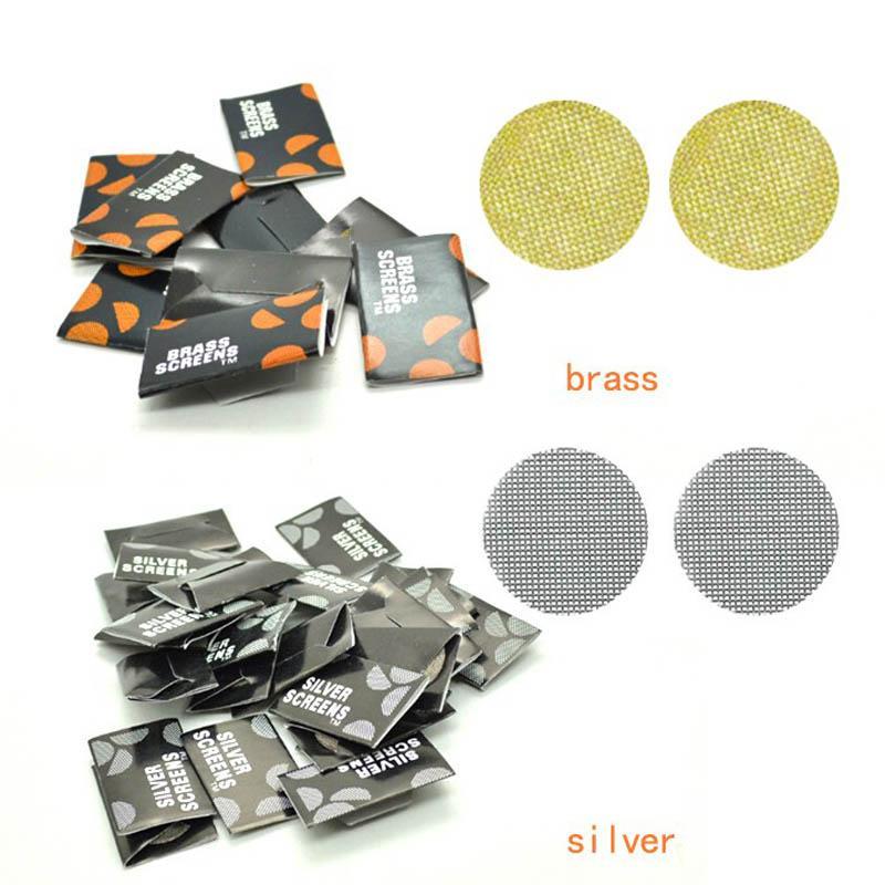 20 mm Tuyau écrans Écrans fumeurs laiton / Filtres en métal argenté et laiton en acier inoxydable pour une utilisation avec un tuyau ou Bong