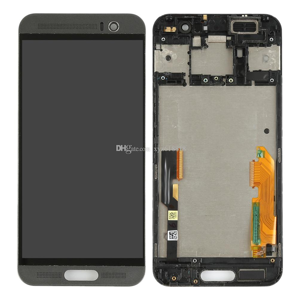 Gray Gold Silver For HTC One M9+ M9 Plus Front Glass LCD Display Monitor Touch Screen Panel Digitizer with Frame Assembly Parts