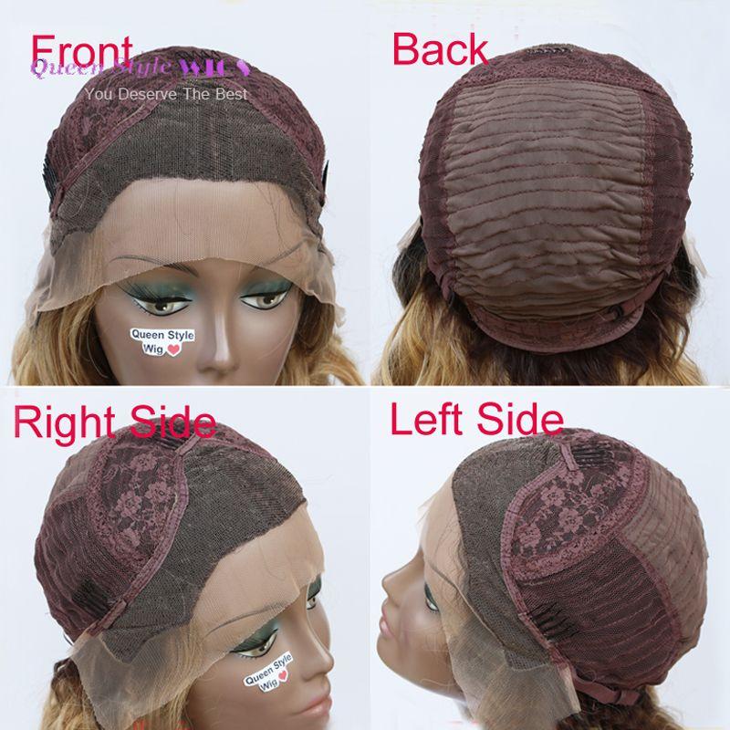 Cheveux colorés Perruques Synthétiques Longue vague lâche ombre Rose Bleu Cheveux colorés Perruque Lace Front perruque Sirène Cosplay partie pelucas perruques pour Femmes