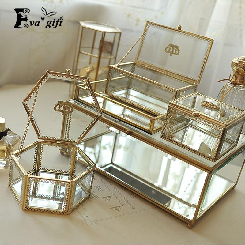 Wonderful 2018 Golden Crown Glass Storage Box Organizer Makeup Cosmetic Small Jewelry  Display Decorative Dressing Table Organizado Gift Idea From Topprettymall,  ...