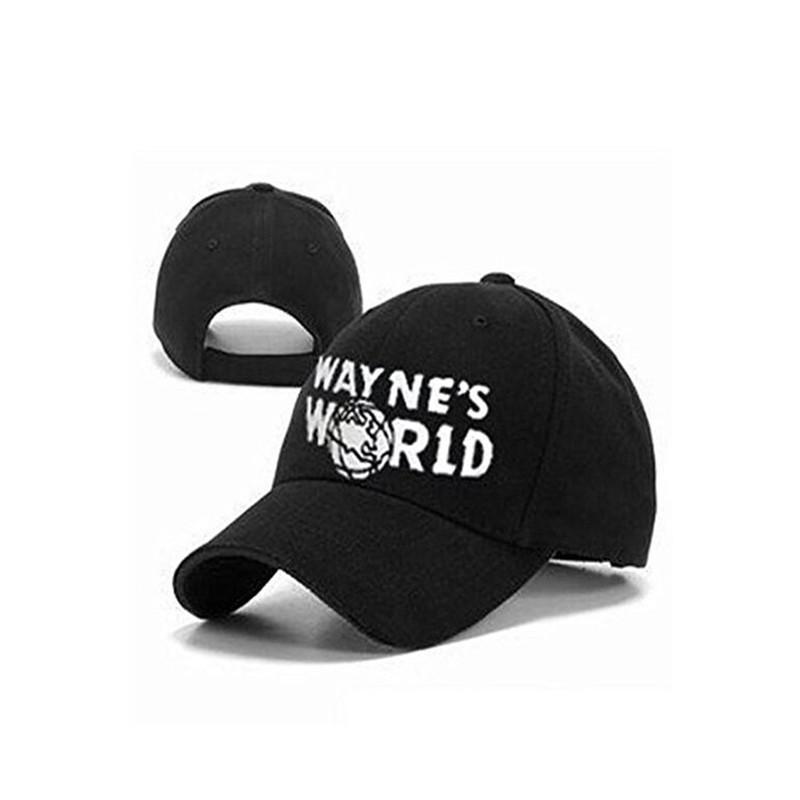 cd2ce093289ae 2019 Wayne S World Black Cap Hat Baseball Cap Costume Fashion Style Cosplay  Embroidered Trucker Hat Unisex Mesh Cap Adjustable Size From Marigolder