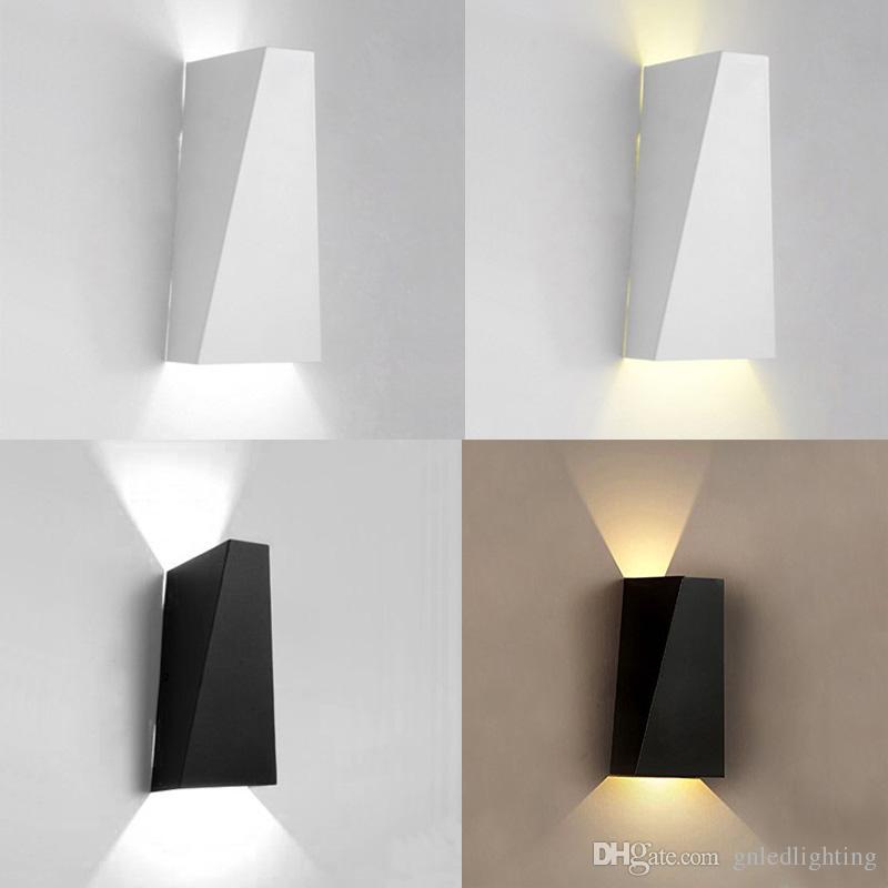 1PC 6W Indoor LED Applique da parete Applique su e giù Lampada da parete  per soggiorno Camera da letto Scala