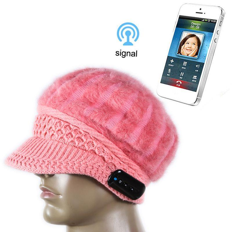 a26dbbd63bd New Arrival Bluetooth Beanie Hat Cap Knitted Winter Magic Hands Free Music  Mp3 Hat For Woman Smartphones Cap Hat Cute Beanies From Nonion
