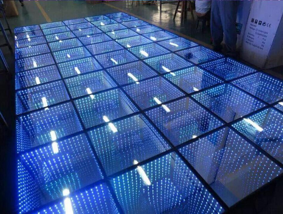 Nouveau miroir 3D Led Dance Floor Light avec le contrôle SD Led Stage Stage Light Stage Floor Panel Lights Disco DJ Party Lights Wedding Decoration