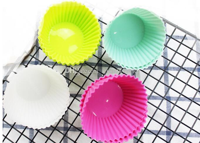 Hot sale high quality 7CM cupcake silicone cake Cup molds cake muffin cases silicone chocolate molds single cupcake holder baking tools