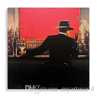 Cigar Bar Man by Brent Lynch,Handpainted /HD Print Modern Decor Pop Art Oil Painting On Canvas.Multi sizes Available Free Shipping mye126
