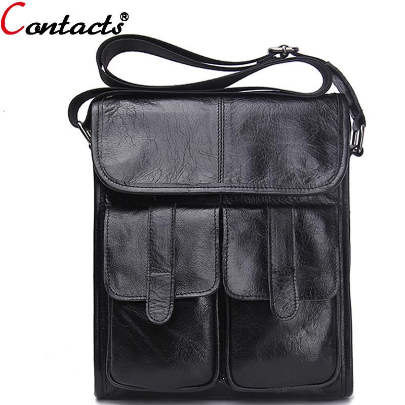 f0c866d6df90 Wholesale CONTACT S Messenger Bag Men Leather Genuine Men S Crossbody Bags  Famous Brand Shoulder Bags For Male Casual Business Bolsas 2016 Discount  Designer ...