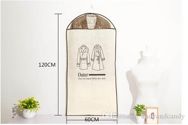 Home Dress Jacket Clothes Storage Bags Garment Suit Cover Case Coat Custodie antipolvere Custodia protettiva Organizzatore pensile