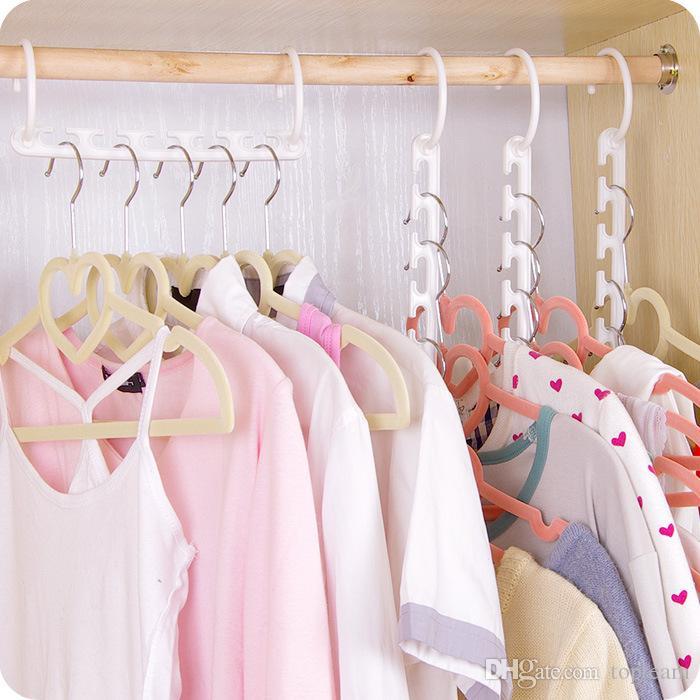 Space Saver Wonder Magic Hanger Clothes Closet Organizer Hook Drying Rack Multi-Function Clothing Storage Racks