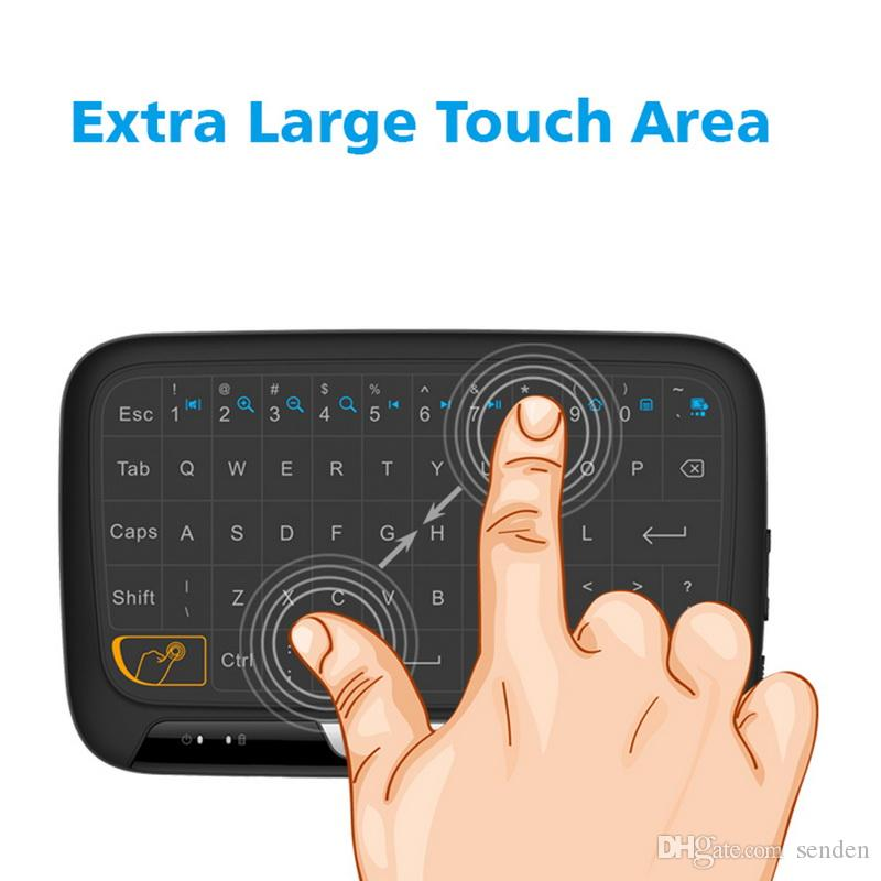 Multi-function Wireless Touchpad Keyboard H18 Portable Touchpad Air fly Mouse 2.4G for Windows/Mac,Android,Linux/Google Smart TV PS3,PC iPad