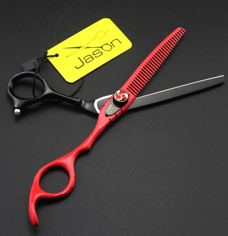 6.0 pulgadas Jason JP440C tijeras de pelo profesional peluquería kits tijeras de corte tijeras de entresacar con el bolso de peluquería suministros, LZS0552