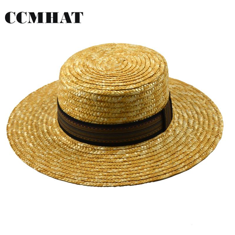 Summer Hats For Women Part - 46: Womenu0027S Boater Sun Hats 2017 New Fashion Wheat Panama Summer Hats For Women  Boater Chapeau Paille Ladies Beach Straw Hats Caps Accessories Summer Hats  ...