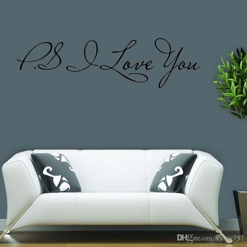 For Ps I Love You Wall Quotes Decals Removable Wall Stickers Decor ...
